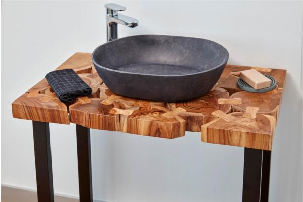 bathco presenta la nueva lnea de lavabos de piedra