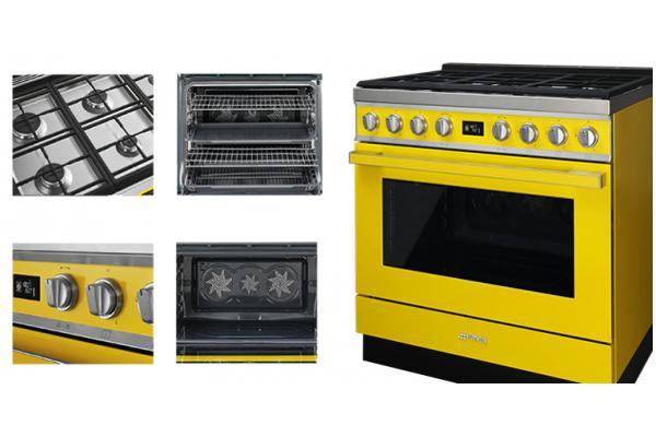 la cocina smeg se ilumina con los colores de portofino