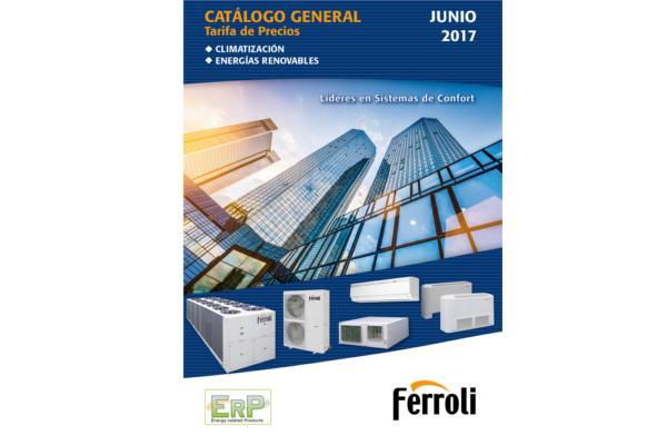 ferroli presenta su nuevo catlogotarifa de climatizacin 2017