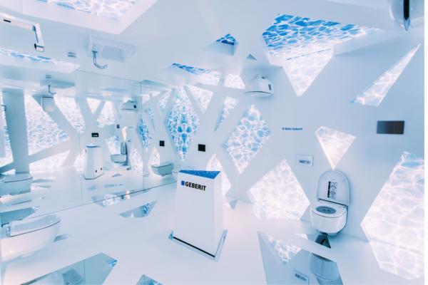 reflexiones infinitas de geberit en el espacio casa decor