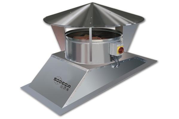 sodeca lanza su nueva gama de extractores de tejado para naves industriales