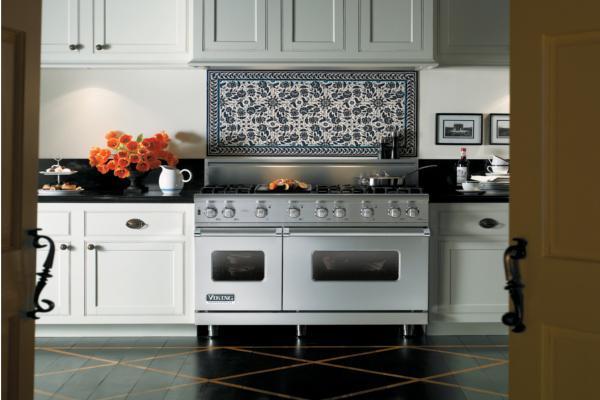 serie 5 de viking la cocina independiente mixta doble horno