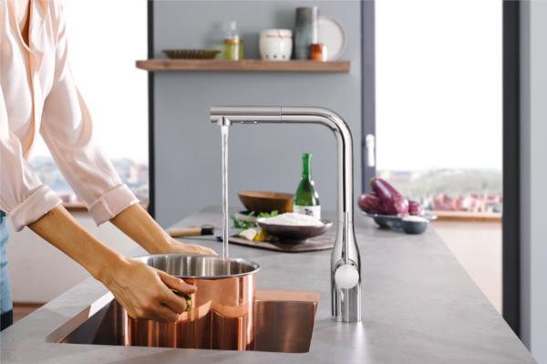 grohe easytouch y footcontrol tecnologa manos libres en la cocina