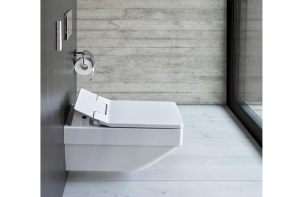 sensowash slim el asiento de lavado con base rectangular de duravit