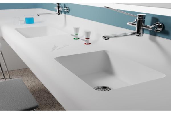 himacs presenta su nueva gama de fregaderos y lavabos