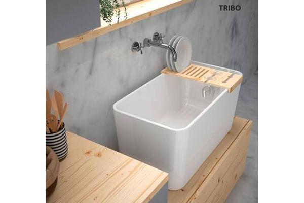 Lavabo lavadero o fregadero el tres en uno de sanindusa Lavadero ceramica