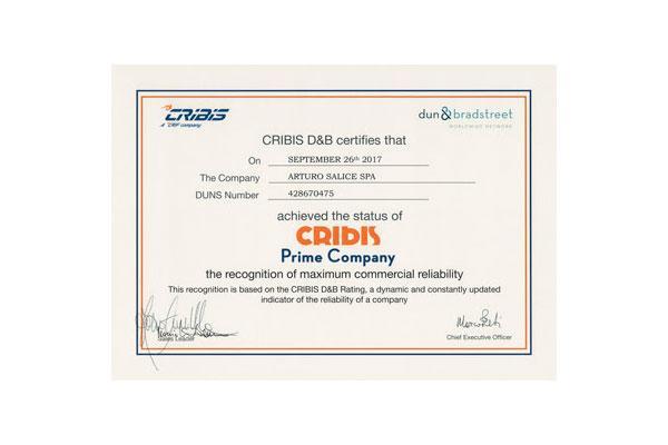 salice obtiene el certificado de fiabilidad financiera
