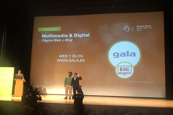 gala recibe el galardn a mejor web y blog en los premios dircom ramn del corral