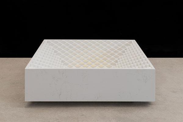compac presenta stepwell table en wallpaper handmade