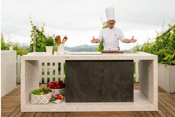 arguiano presenta su nueva cocina exterior con neolith