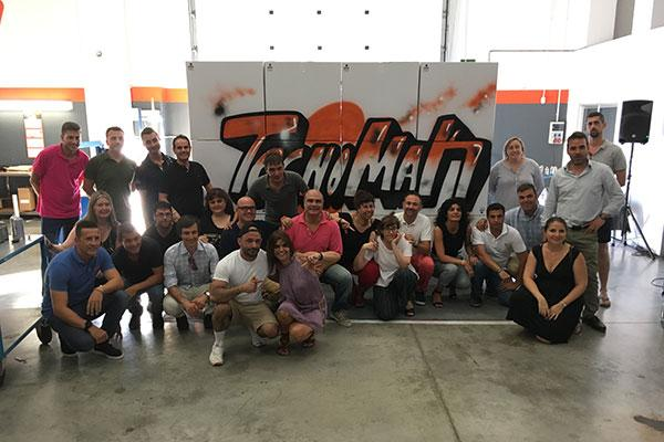 tecnomak celebra un team building con sus empleados