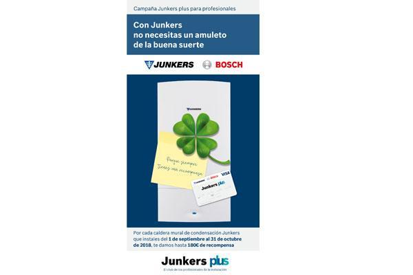 junkers recompensa a los instaladores por instalar calderas murales de condensacin con hasta 180 euros