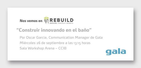 rebuild acoge la ponencia de gala cmo construir innovando en el bao