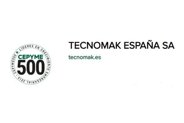 tecnomak espaa seleccionada para formar parte de cepyme500
