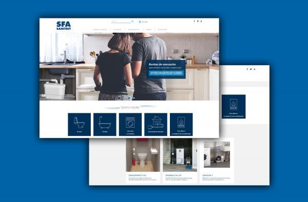 sfa sanitrit actualiza su web en espaa con nuevas herramientas de ayuda al instalador y el cliente final