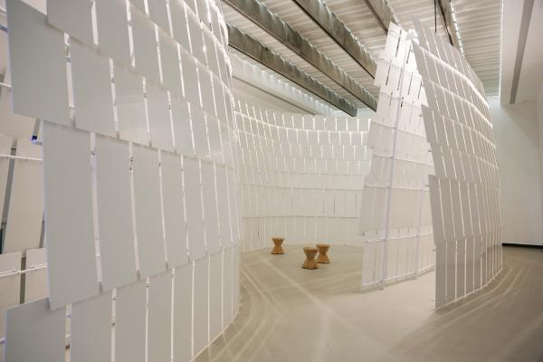 michele de lucchi y lanello mancante la instalacin de himacs en el museo maxxi de roma