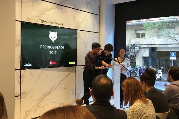 los nominados de los premios feroz 2019 se dan a conocer en el cosentino city madrid