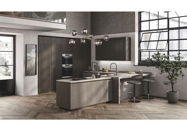 estilo contemporneo para la cocina y sala de estar liberamente de scavolini