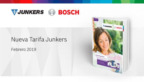 nueva tarifa de junkers para 2019 con novedades en sus gamas de acs calefaccin y climatizacin