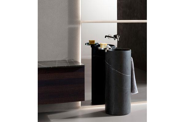 el lavabo de pie giro de inbani galardonado con el design plus