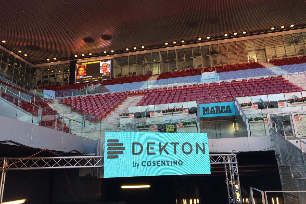 dekton by cosentino brilla en el mutua madrid open 2019