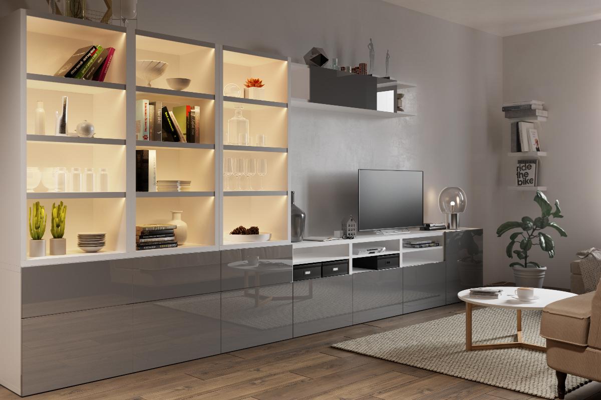 gtv muestra en interzum sus novedades en armarios perfiles glax y bisagras