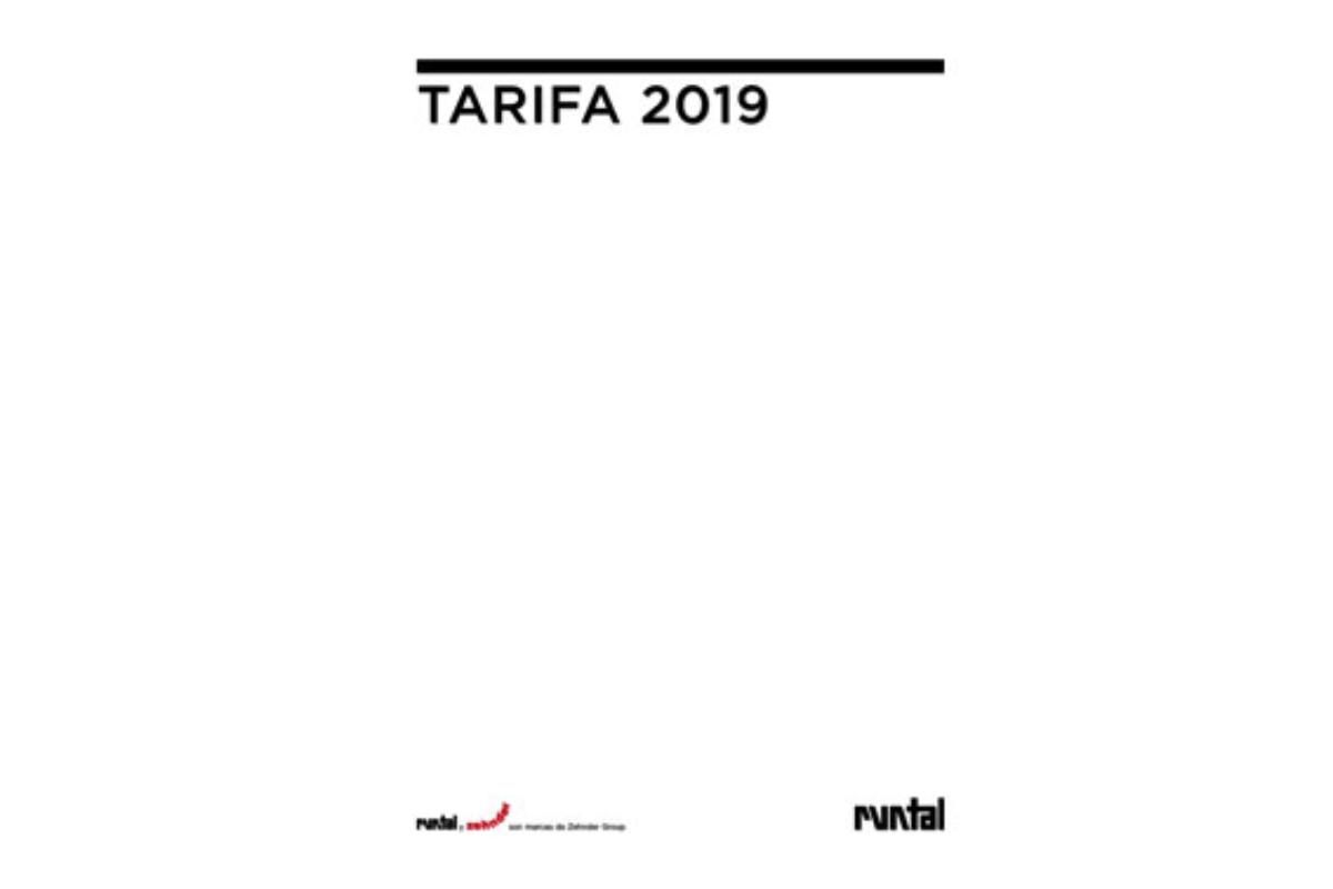 la nueva tarifa runtal 2019 ahora ms completa y detallada