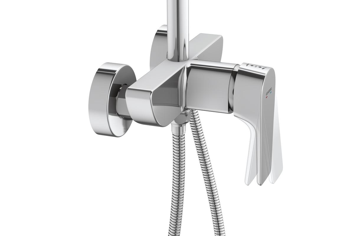 genebre presenta una columna de ducha extensible con sistema geeasy