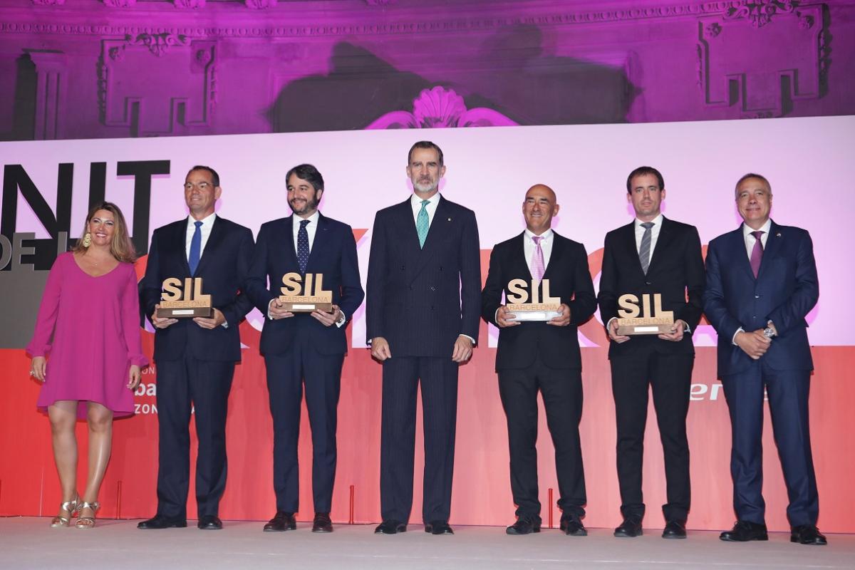su majestad el rey preside la cena de la nit de la logstica y la entrega de los premios sil 2019