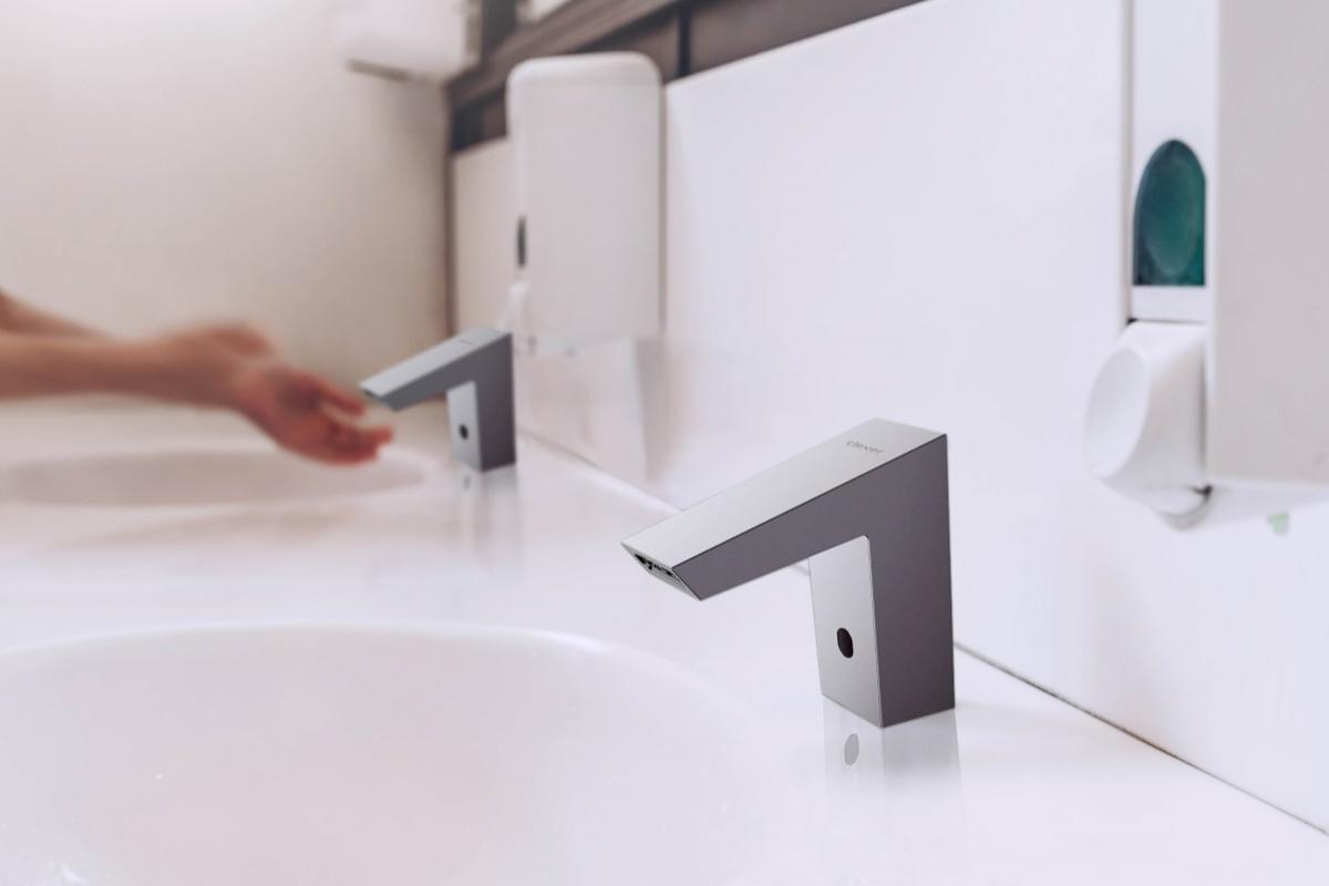 clever presenta una nueva grifera electrnica para lavabo