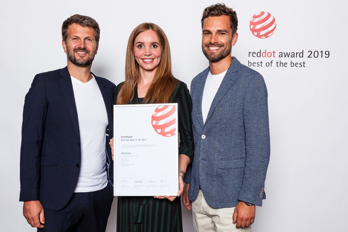 el grupo hansgrohe y phoenix design  han recibido dos best of best de los red dot award 2019