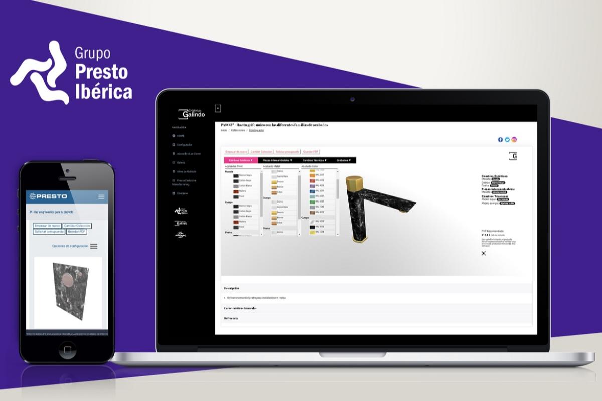 grupo presto ibrica lanza el primer configurador capaz de personalizar al 100 todo tipo de grifos