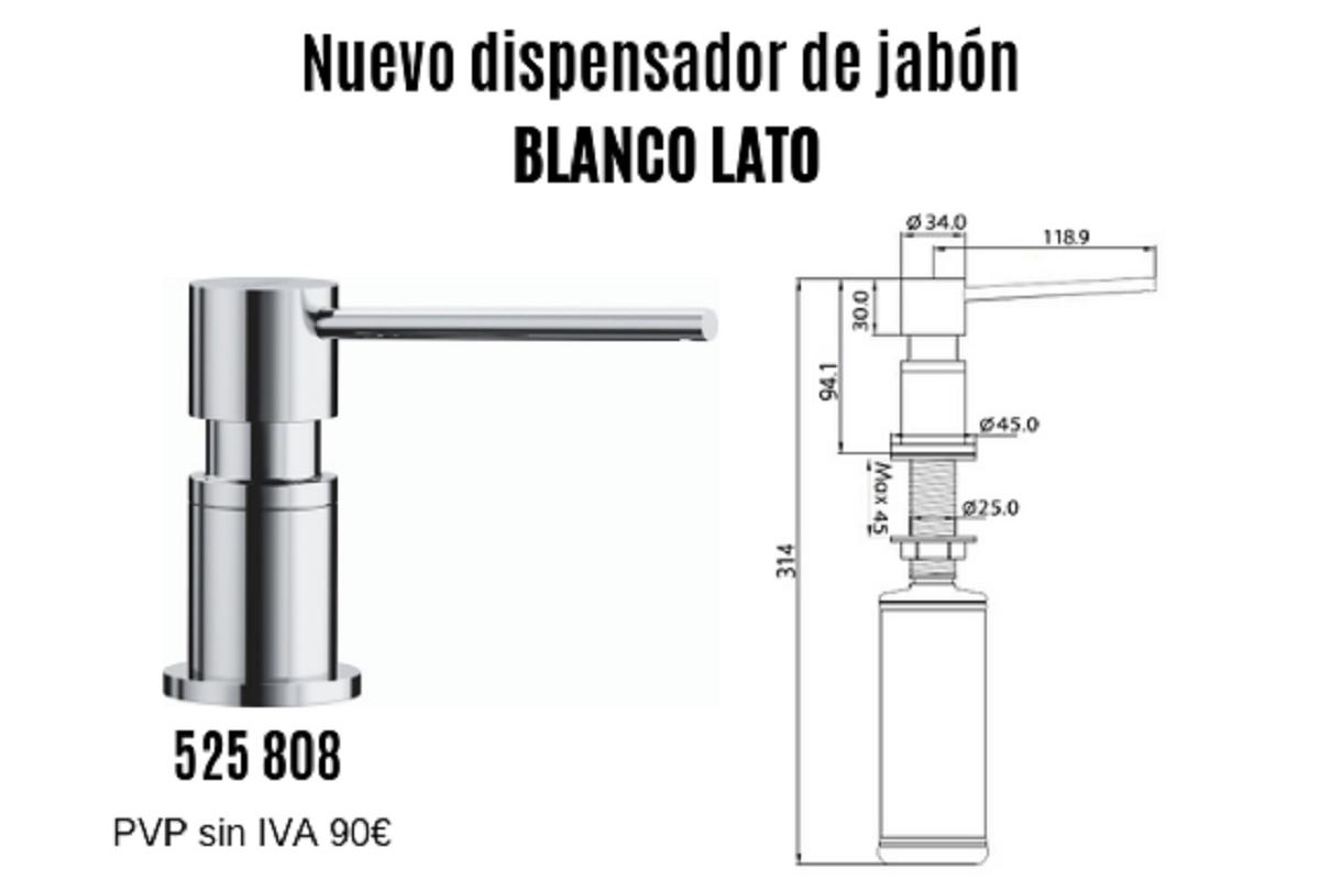 nuevo dispensador de jabn blanco lato