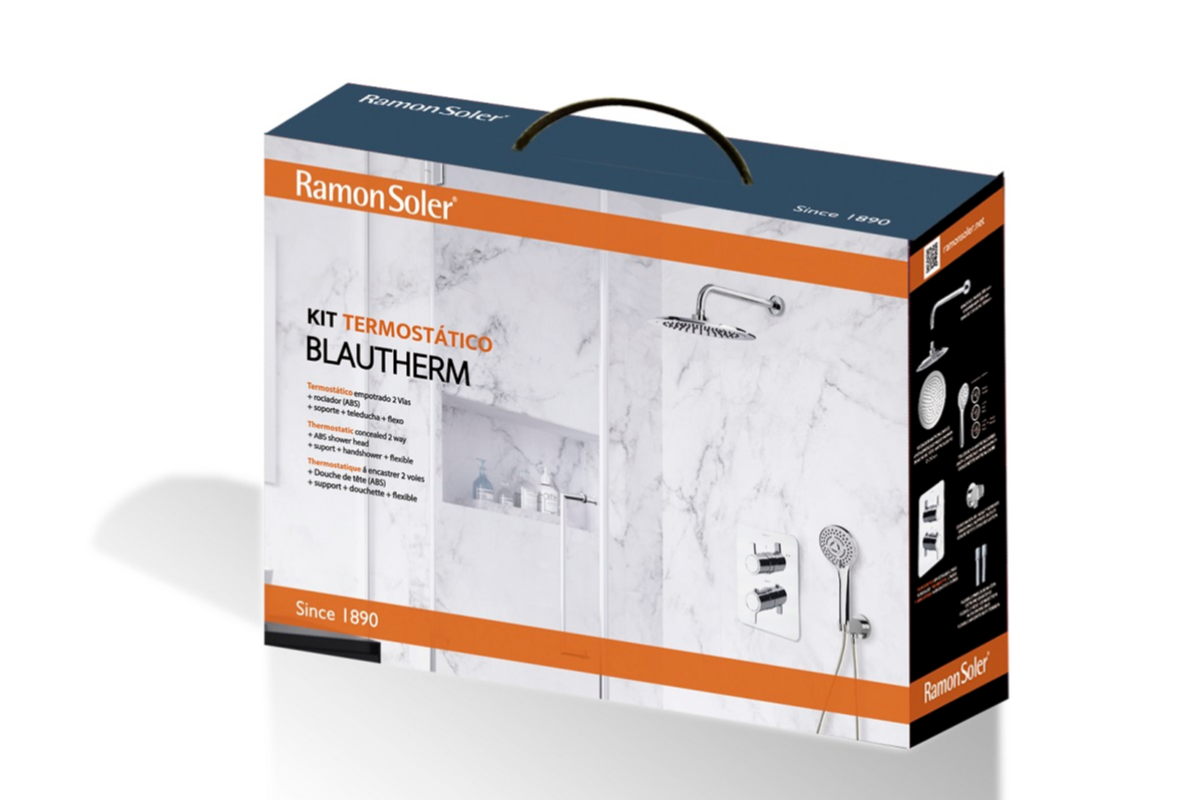 ramon soler presenta el nuevo kit blautherm termosttico empotrado
