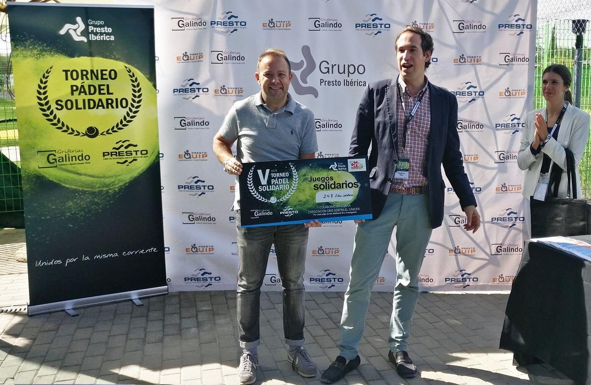 grupo presto ibrica colabora en la lucha contra el cncer durante su v torneo de pdel solidario