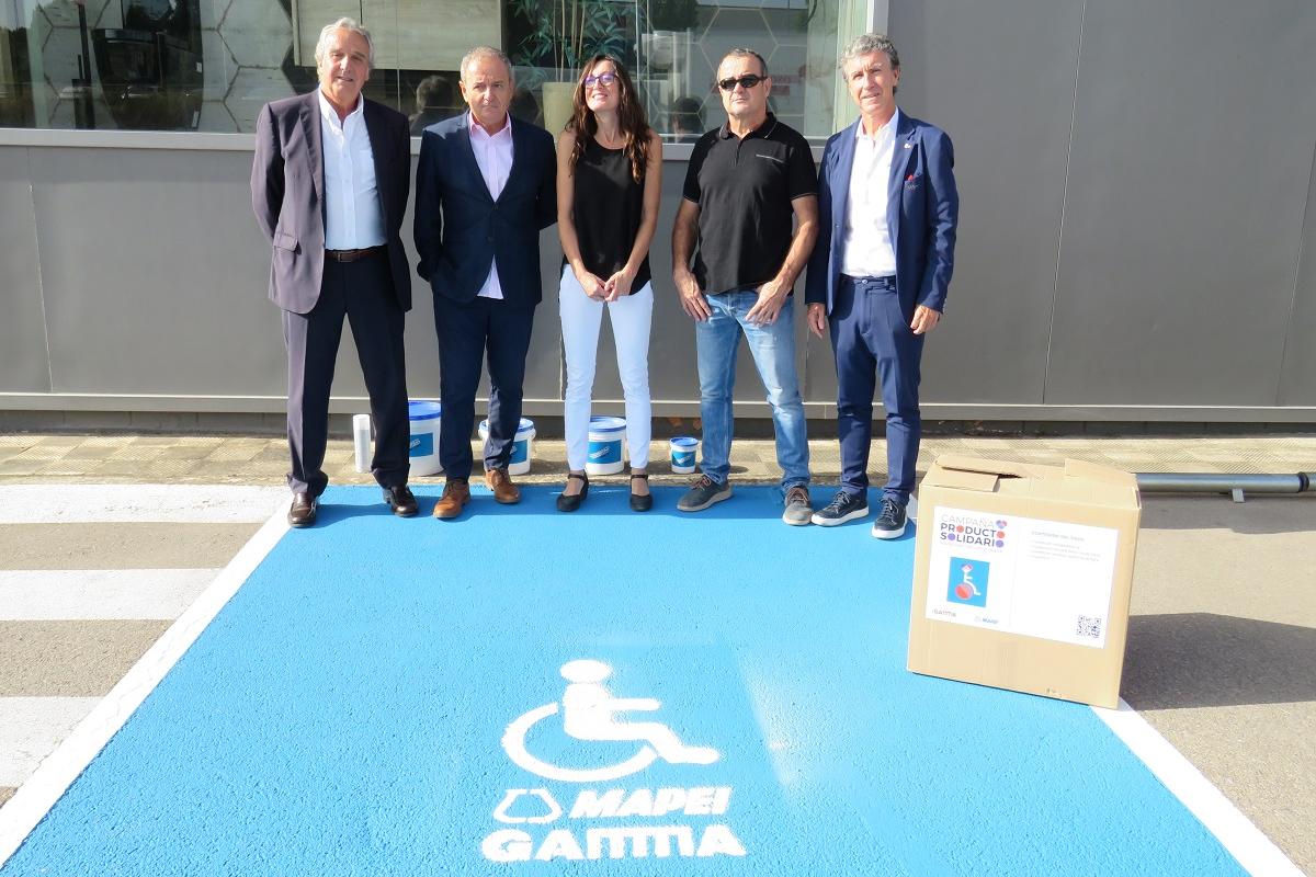 mapei amp gamma colaboran en pro de la accesibilidad de los discapacitados