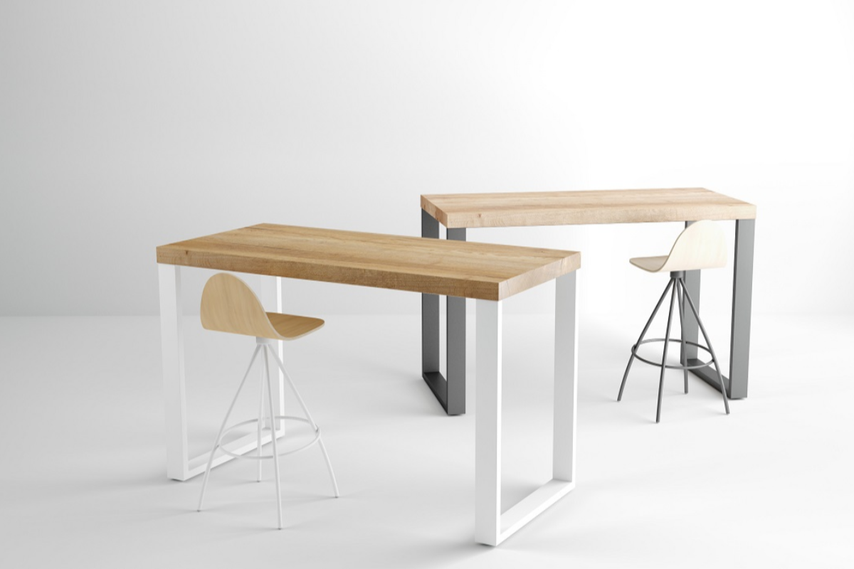 mesa y barra kaiser de cancio mobiliario contract a medida