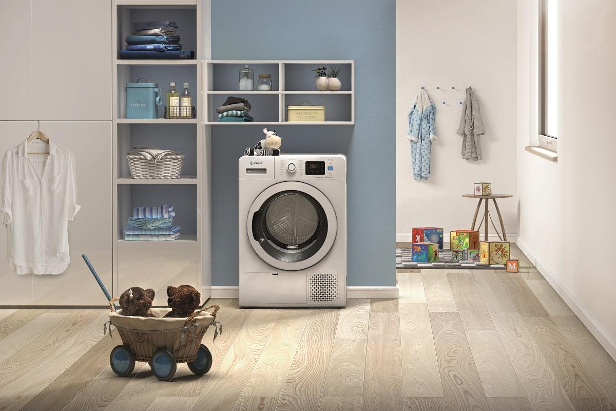 las nuevas secadoras pushampgo de indesit vienen con un set de toallas de regalo