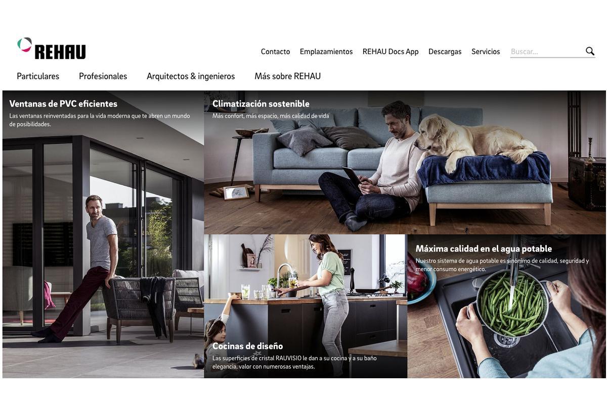 rehau renueva su web con un diseo intuitivo y adaptado a los profesionales