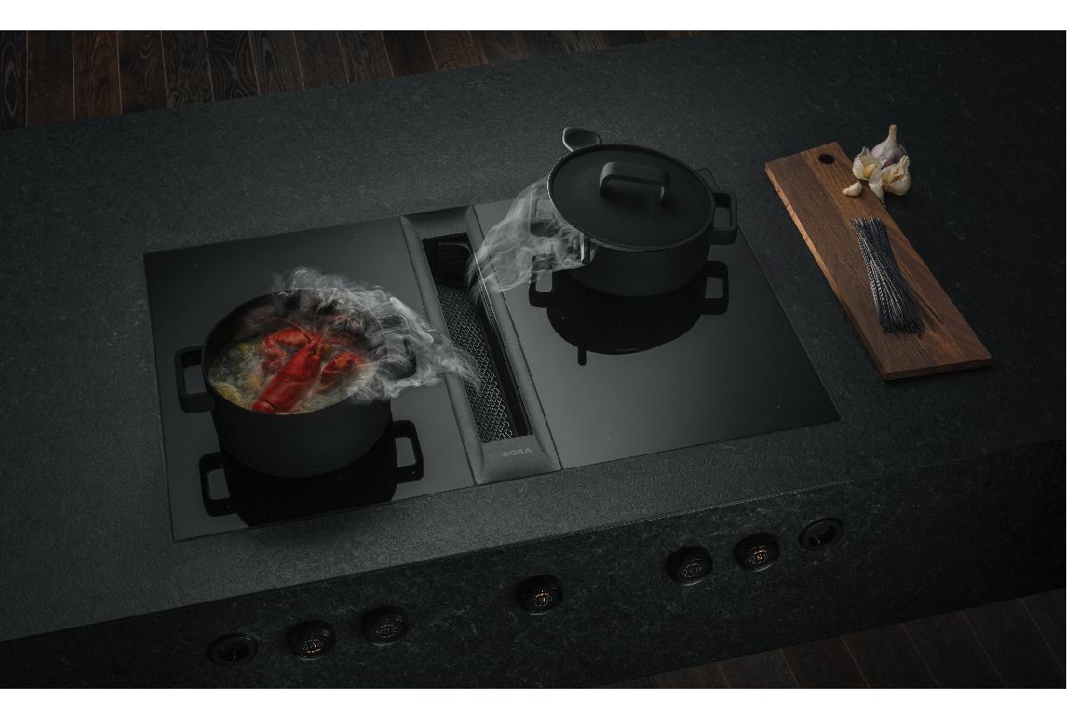 bora professional 20 la elegante superficie de coccin con extractor incorporado