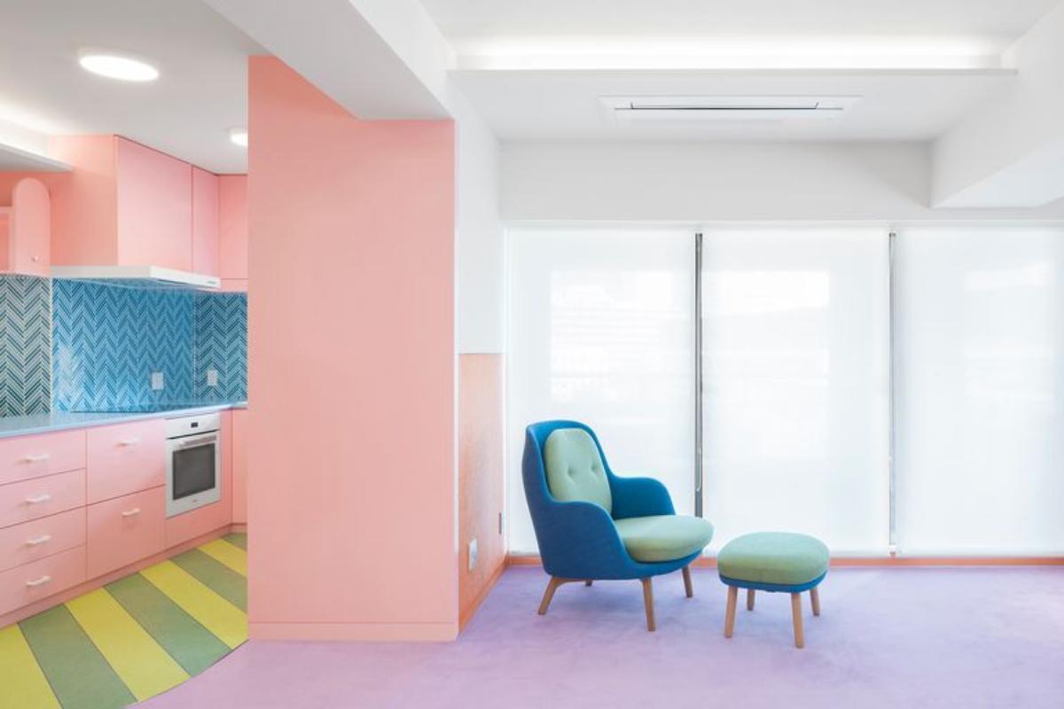 un apartamento de tonos pastel en el corazn de tokio