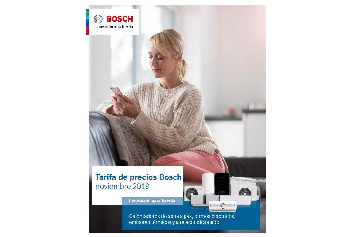 bosch termotecnia actualiza su nueva tarifa de precios para el 2020