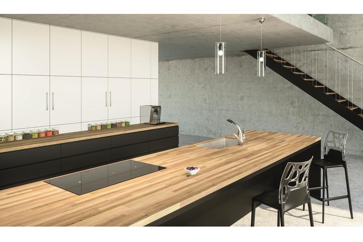 luisiwood de luisina cucine encimeras de madera que dotan de un aspecto rstico a la cocina