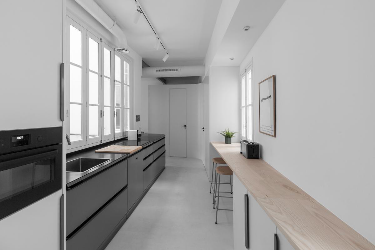un loft en delicias donde la cocina es la protagonista