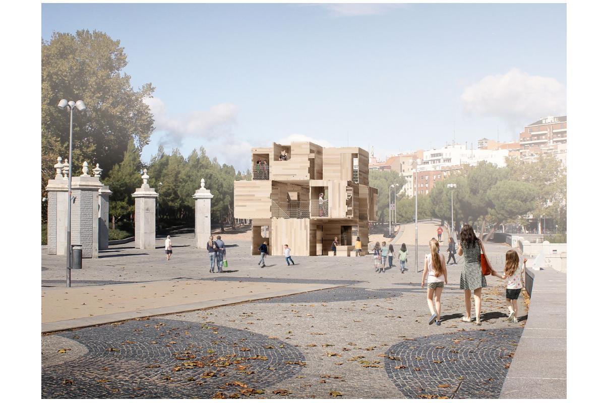 multiply una construccin sostenible y modular de madera en madrid design festival 2020