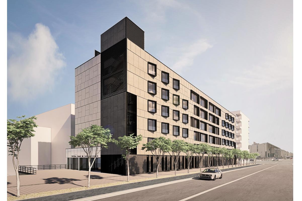 los arquitectos de bta proyectan una residencia en lleida con unidades de convivencia reducidas