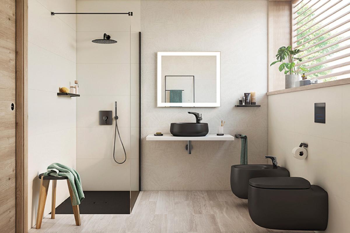 cratos rene las innovadoras cualidades de senceramic en un plato de ducha extraplano