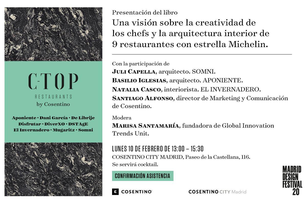 ctop restaurants by cosentino el libro que ana cocina y creatividad se presenta en cosentino city madrid