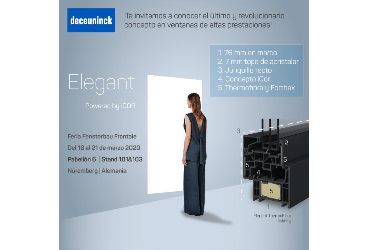deceuninck presente en fensterbau frontale 2020 con la plataforma elegant