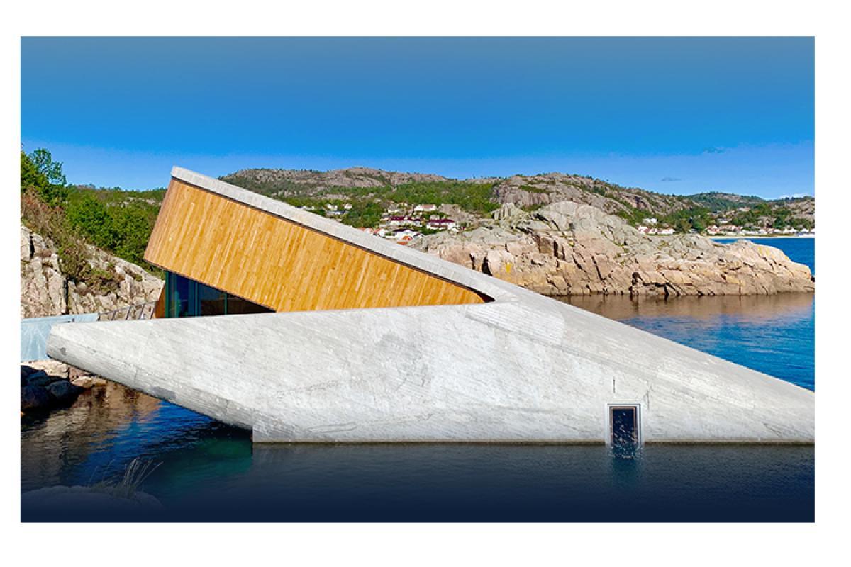 grohe atrio icon 3d impresiona en under el primer restaurante sumergido de europa